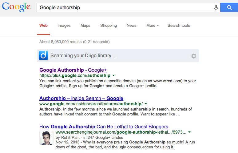 Google authorship   Google Search